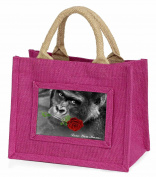 Gorilla+Red Rose 'Love You Mum' Little Girls Small Pink Shopping Bag Christmas G