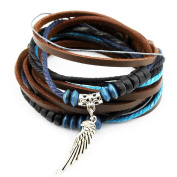 Axy Series 13 TWIC13-2 Tibetan Braided Bracelet Genuine leather surfer bracelet