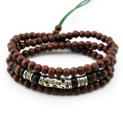 Axy Series 12 TWIC12-1 Tibetan Wrap Bracelet Bracelet / Necklace. Wooden beads. Surfer bracelet. Unisex jewellery