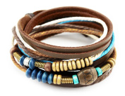 Axy Series 13 TWIC13-4 Tibetan Braided Bracelet Genuine leather surfer bracelet