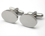 Real 18k Gold Plated Round Stainless Steel CuffLinks in Men's Accessory