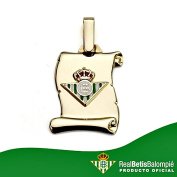 Real Betis shield pendant parchment 18k gold small law [8611GR] - RECORDING INCLUDED IN PRICE