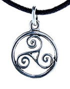 Dainty Triskelen pendant made from 925 Sterling Silver