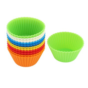 Silicone Muffin Egg Tart Cake Mould Cupcake Baking Cup Mould 12PCS