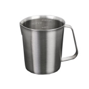 Stainless Steel Milk Pitcher Jug Coffee Foam Container Measuring Cup Kitchen Tool 500ML