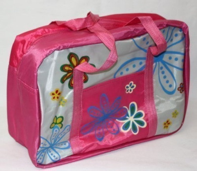 Baby Nappy Changing Overnight Bag Flowers Design CERISE PINK