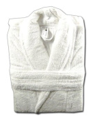 500 GSM Plain White 100% Cotton Terry Towelling Bathrobe + A FREE PAIR OF SLIPPERS
