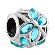 New Style Blue. Element Crystal Wing Dragonfly Charm Bead Sale Fit Pandora Bracelet