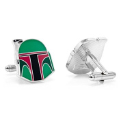 Star Wars Cufflinks - Plated Boba Fett Helmet Cuff Links - Men's Shirt Accessory in Gift Box
