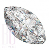Be You White Cubic Zirconia AAA Quality 5x10 mm Diamond Cut Marquise Shape 50 pcs loose gemstone