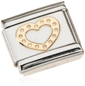 Nomination Composable Women's Charm Love Heart 18 K Gold Partially Gold-Plated Stainless Steel 030116/19