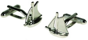 Mens Silver Yacht Boat Sailing Cufflinks & Gift Box By Onyx Art