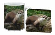 River Otter Mug and Table Coaster, Ref:AO-2MC