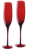 Artland Midnight Flute, Set of 2, Red