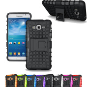 Galaxy Grand Prime G530 Case, Asstar [Stand Feature] Hybrid ShockProof Dual Layer Tyre grain with Kickstand Protective for Samsung Galaxy Grand Prime G530 G5306 G5308