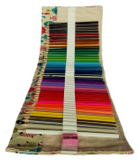 Art Set Coloured Pencils 48 for Adult Kids Colouring with Canvas Wrap Holder and Sharpener
