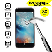 [2 Pack] iPhone 6S / 6 Screen Protector, NOKEA [Tempered Glass] Screen Protector with [9H Hardness] [Crystal Clear] [Easy Bubble-Free Installation] [Scratch Resist]