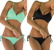 DODOING Women's Push up Bikini Padded Bra Bathing Suit