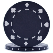 High Quality Suited Poker Chips - Black