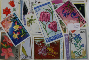 Packet of 200 Flower Stamps