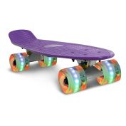 Yorbay® 60cm Retro Skateboard Cruiser Board Fully Finished Mounted Aluminium Frame