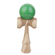 Safety Japanese Bamboo Kendama Toys Kids Learning Educational Toy Game Green