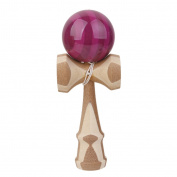 Safety Japanese Bamboo Kendama Toy Kids Learning Educational Toy Game Purple
