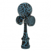 Wooden Crack Paint Kendama Toy Kids Ball Games Black & Blue
