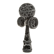 Wooden Crack Paint Kendama Toy Kids Ball Games Black & White