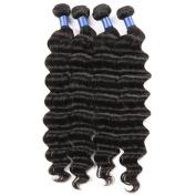 "ZS Hair Brazilian Virgin Hair Bundles Deep Wave Human Hair Weave 4 Bundle Remy Human Hair Extensions Natural Colour 14""16""18""20"""