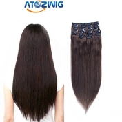 ATOZWIG@#02Fashional Clips in Remy Human Hair Extensions for Women Beauty.
