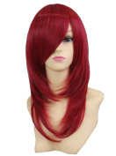 Icoser® Sexy Women Synthetic Hair Wigs Red Cosplay Wig Costume and a Wig Cap Black and a Hair Comb