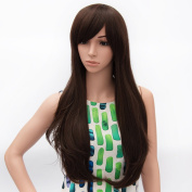 Icoser® Sexy Women Brown Hair Wig Fashion Long Curly Wigs Cosplay Costume and a Wig Cap Black and a Hair Comb