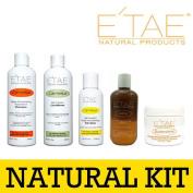 Etae Natural Products E'tae Carmelux Shampoo Conditioner Gloss Carmel Treatment Buttershine Combo Kit
