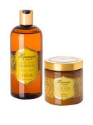 Hammam Tunisian Amber Restore & Repair Haircare Set - Tunisian Amber Restorative Hair Mask + Nourishing Shampoo