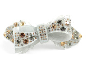 RIBBON CHRYSE AUSTRIAN RHINESTONE CRYSTAL HAIR CLAMP CLIP BARRETTE C733 GREEN