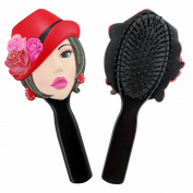Jacki Design . Hair Brush Donna Style- Black