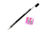 Crispy Black Eyebrow Pencil With Brush And Sharpener Set