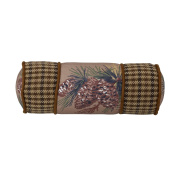 HiEnd Accents Crestwood Pinecone Lodge Neck Roll