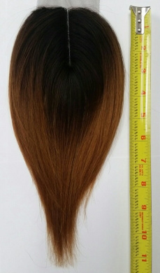 100% Human Hair Invisible Closure #Ombre 1b/30 Colour