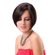 Stfantasy 30cm Fashion Short Brown Bob Wigs for Women With Side Bangs