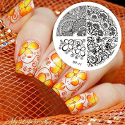 Born Pretty Nail Art Stamping Template Image Plate Elegant Flower BP16