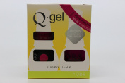 QRS- Nail Lacquer and Q-Gel Duo- Purple Passion - S346 +G346 -. 150ml each-