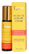 Argan Rose Hip Rollerball - Target & Rejuvenate Eyes, Wrinkles, Lip Lines, Dry Skin, Neck, Age Spots, Sun Damage. 980ml 100% Organic, Anti-Ageing Face Oil Moisturiser in a Roll-on For Glowing, Youthful Skin