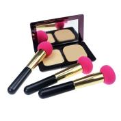 CHOKA™ Set of 3 Beauty Cosmetic Makeup Sponges Brush Foundation/Concealer/Blush/ Bronzer/Contouring/Highlighting Creams Liquid Makeup Foundation Applicator Brush