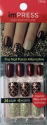 KISS imPRESS **NIGHT FEVER** 2x Longer Lasting Short Nails by Broadway Press-On Manicure Nails