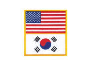 U.S. America & Korea Flag Patch (8.9cm ) by Tiger Claw
