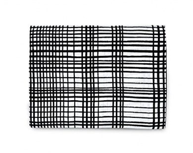 Organic Cotton Muslin Swaddle Blanket (Grid)