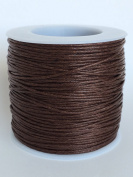 Brown 1mm Waxed Cord, for Beading and Macrame Supplies, 84 Metres, 91 Yards