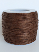 Light Brown 1mm Waxed Cord, for Beading and Macrame Supplies, 84 Metres, 91 Yards